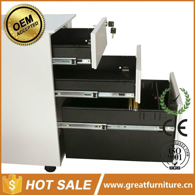 Office Equipment A4 File Cabinet 3 Drawer Mobile Pedestal 3