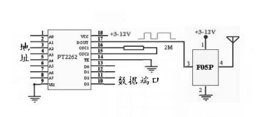 低功耗無線模塊無線發射模 F05P 4