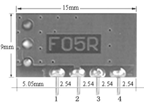小体积带休眠无线发射模块F05R 4