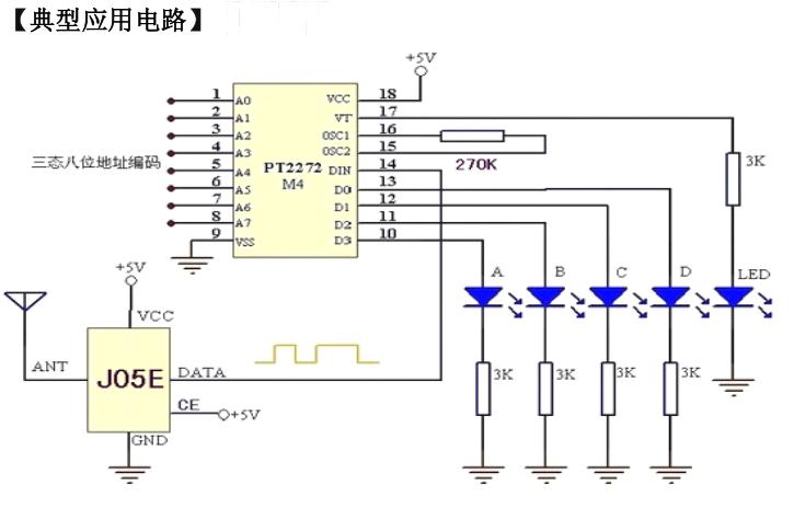 低功耗超外差无线接收模块J05E 4