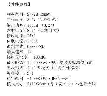 2.4G无线模块小体积远距离JF24D-B+ 3