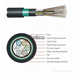Outdoor Direct Buried Fiber Optic Cable FTTH Optical cable OS2(G652D)