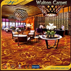 Fireproof Tufted Pile Polyester Wall to Wall Printed Carpet Floor for Hotel