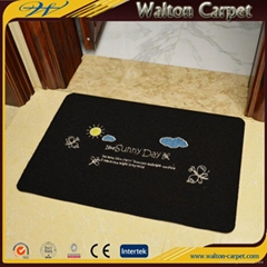 Non Skid TPE Base Needle Punched Anti-Dust Flooring Door Mat with Custom Logo
