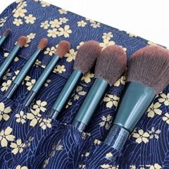 8pcs Makeup Brushes Set with Cloth Bag for Contour Eyeshadow Eyebrow Powder