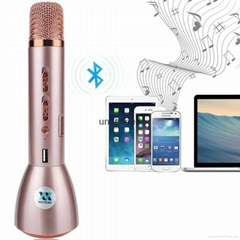 K088 Bluetooth Wireless Karaoke Microphone Speaker Recorded Song Singing Play