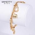 2017 new Gold Plated Elephant Pendant charm Bracelet Bangle Jewelry 5