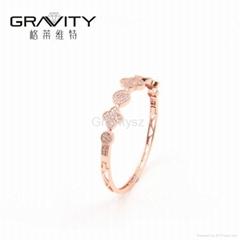 China jewelry manufacturer gravity custom rose gold bangle jewelry