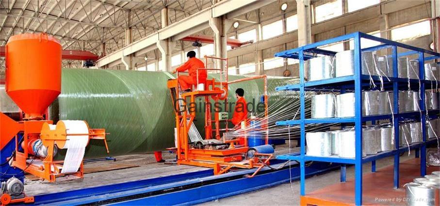 微機控制玻璃鋼管道儲罐纏繞設備 1