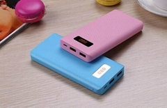 Hot products 2017 real 8000mah portable led power banks with display