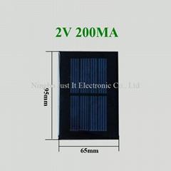 2V 200mA 0.4W 95x65mm Epoxy Mini Solar Cell for Toys