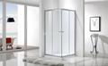 Square Double Sliding Doors Shower Enclosure