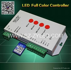 RGB/Full color led controller with SD program card