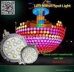 Lighting project LED spot light 2cm 3cm