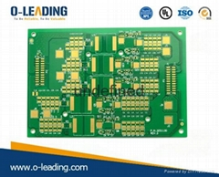 4-layer printed circuit board with selective hard gold