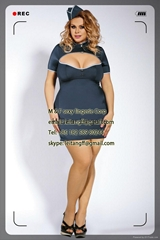 PLUS SIZE Stewardess Costume sexy lingerie