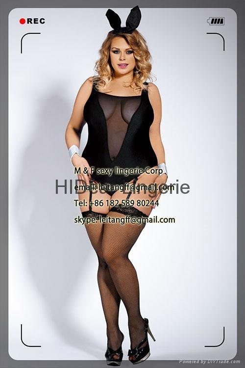 PLUS SIZE  Bunny Costume sexy lingerie  1