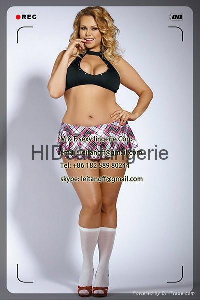 PLUS SIZE  School Girl set Sexy lingerie  1