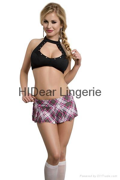 PLUS SIZE  School Girl set Sexy lingerie  2
