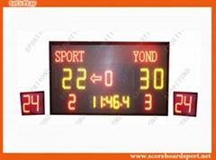 University Digital Electronic Basketball Scoreboard with LED Shot Cloks Display