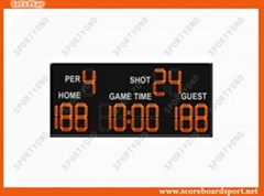 Red Digital LED Electronic Basketball Scoreboard Timer with Wireless RF Console