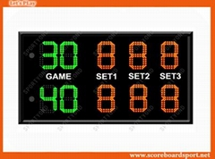 Wireless LED Electronic Tennis Scoreboard with Game Score Display