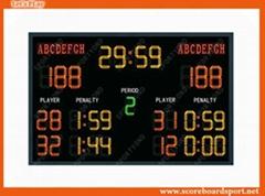 Wireless Handball Electronic Digital LED Scoreboard with Scores Display Boards