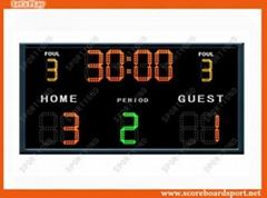 College Electronic Football Scoreboards, Wireless Futsal Scores Display Boards