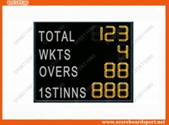 LED Electronic Cricket Scoreboard with Scores Display