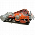 High pressure plunger grout pump for jet