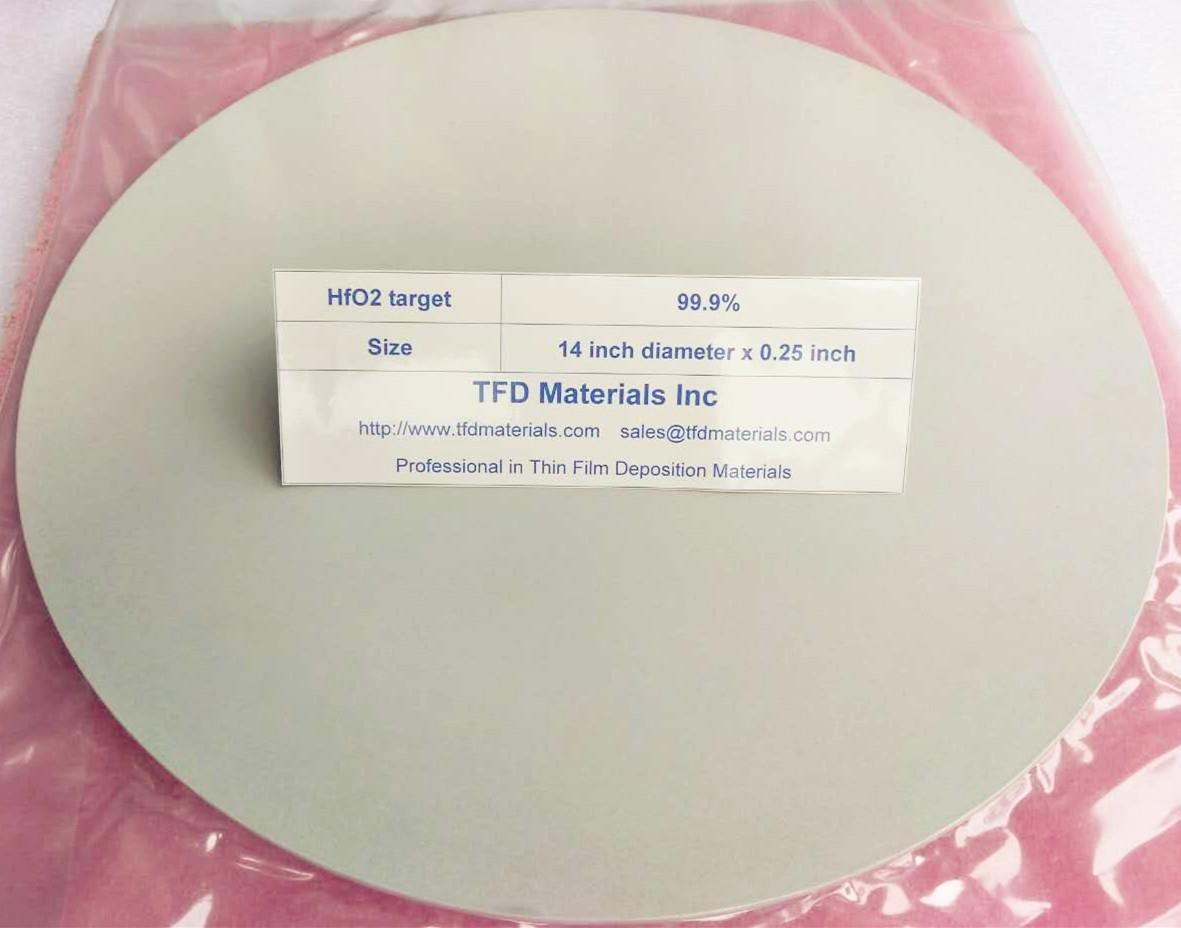 Hafnium Oxide HfO2 target 1