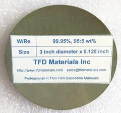 Tungsten Rhenium W/Re target