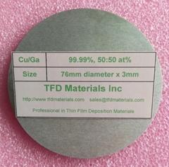Copper Gallium Cu/Ga alloy target