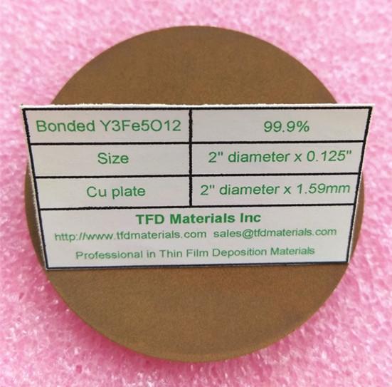 Yttrium iron garnet (YIG) Y3Fe5O12 target