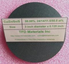 Copper Zinc Tin Sulfide CZTS target