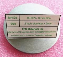 Manganese Gallium Mn/Ga alloy target