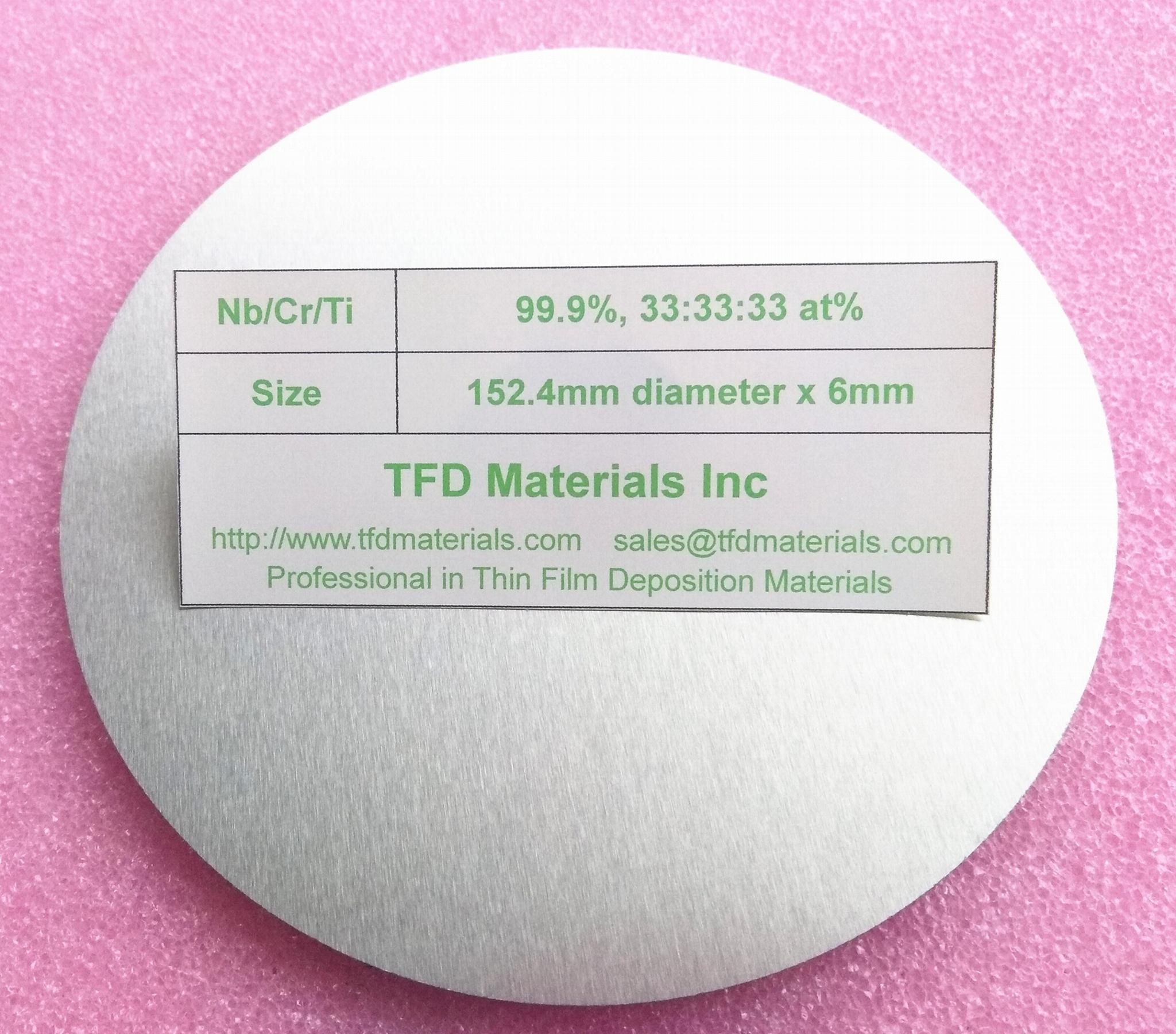 Niobium Chromium Titanium NbCrTi alloy target 1