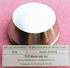 Thermal Barrier Coating TBC / NiCoCrAlYHfSi bond coating