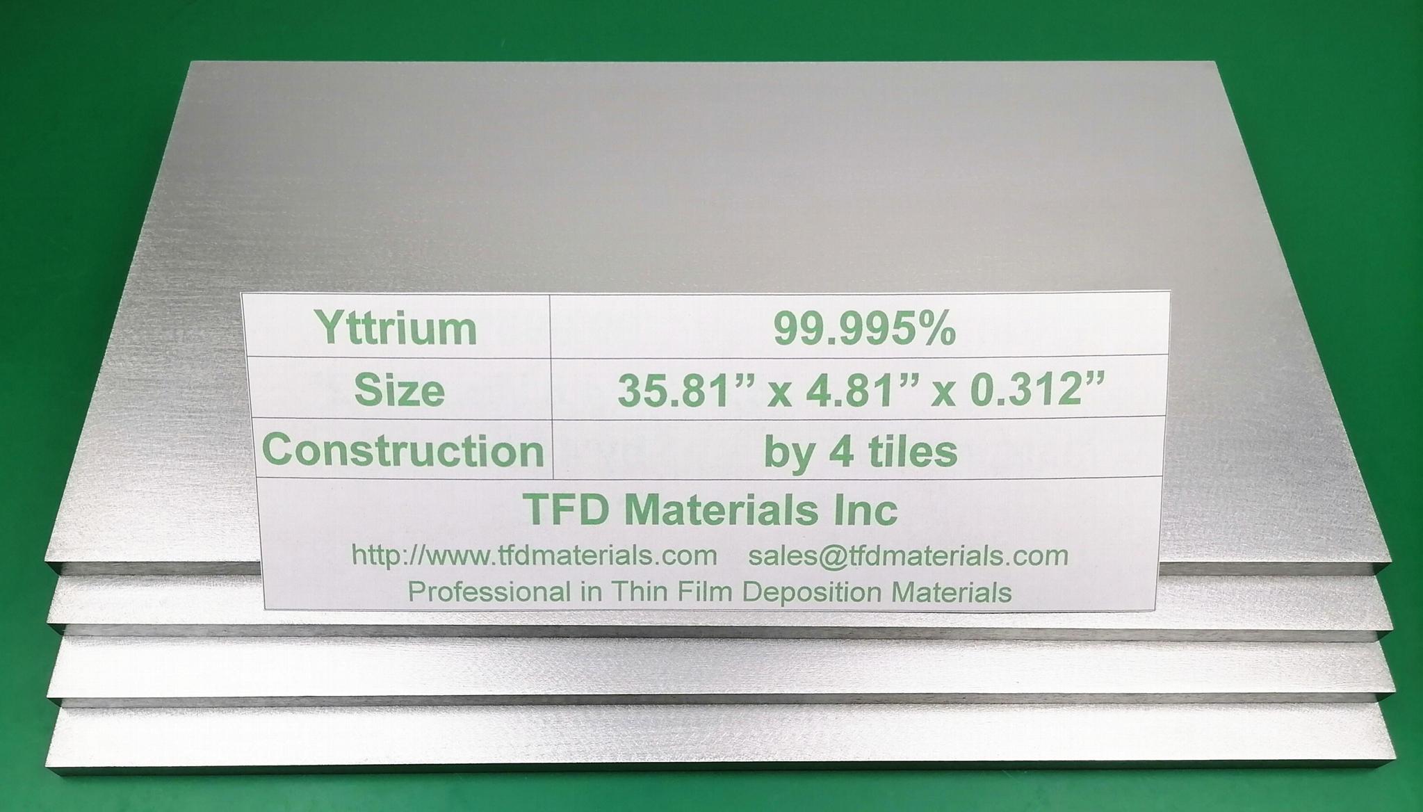 Yttrium Y target 1