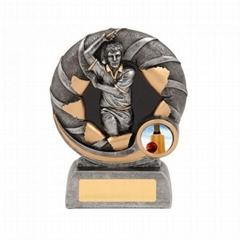 Bursting Cricket Bowler Resin Trophy