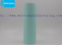 Low lint spunlace nonwoven fabric