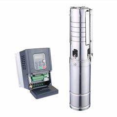 Hybrid AC/DC solar water pumps agriculture solar pump 3 hp set