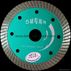 Granite cut diamond saw blade