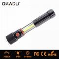 OKADU SF04 Cree Q5 LED Torch + 5W COB Work Light AAA Magnet 2IN1 Working Lamp