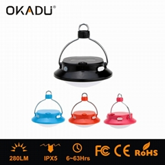 Hanging Camping Light LED Tent Lantern with USB Port For Mobile Phone Charge