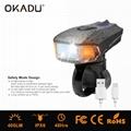 OKADU BT09 German Standard USB Bicycle Light Cree LED Bike Light 1