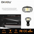 OKADU BT09 German Standard USB Bicycle Light Cree LED Bike Light 3