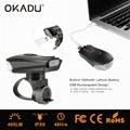 OKADU BT09 German Standard USB Bicycle Light Cree LED Bike Light 5