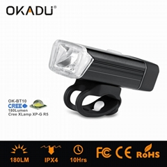 OKADU BT10 180Lumens USB Charging Led Bicycle Light German Sensor Led Bike Light
