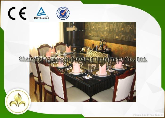Electromagnetic Heating Rectangle Seven Seats Teppanyaki Grill Table 1